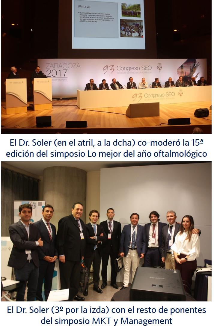 varios momentos de la participacion de io clinica dr soler en el 93 congreso de la seo