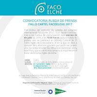 Concurso carteles FacoElche 2017