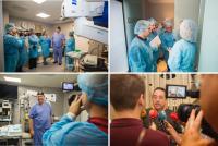 2017 10 20 Varios momentos de la visita de los medios de comunicación locales a Innova Ocular Clínica Dr. Soler